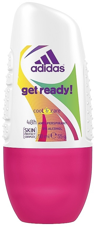 Deo Roll-on Antitranspirant - Adidas Anti-Perspirant Get Ready Cool&Care 48h