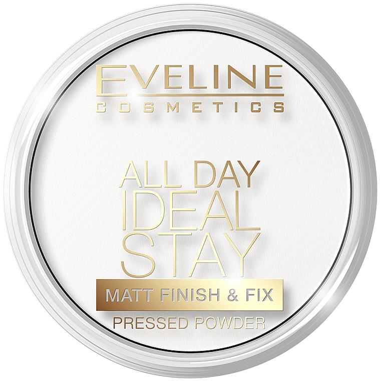 Mattierender gepresster Puder - Eveline Cosmetics All Day Ideal Stay Matt Finish & Fix White-60