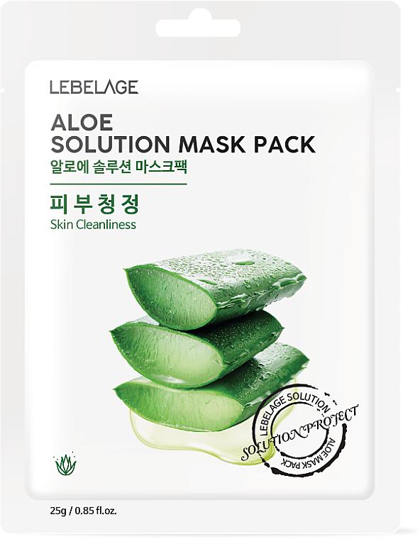 Feuchtigkeitsspendende Tuchmaske für das Gesicht mit Aloe Vera-Extrakt - Lebelage Aloe Solution Mask