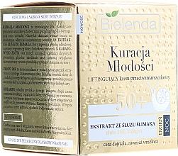 Düfte, Parfümerie und Kosmetik Hautstraffende Anti-Aging Gesichtscreme mit Schneckenschleim-Extrakt 50+ - Bielenda Kuracja Mlodosci Cream 50+