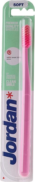 Zahnbürste weich rosa - Jordan Clean Smile Soft