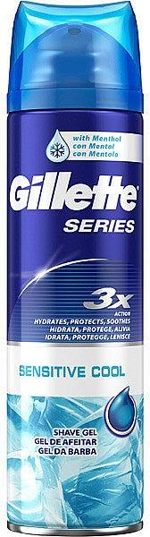 Rasiergel mit erfrischender Wirkung für empfindliche Haut - Gillette Series Sensitive Cool Shave Gel