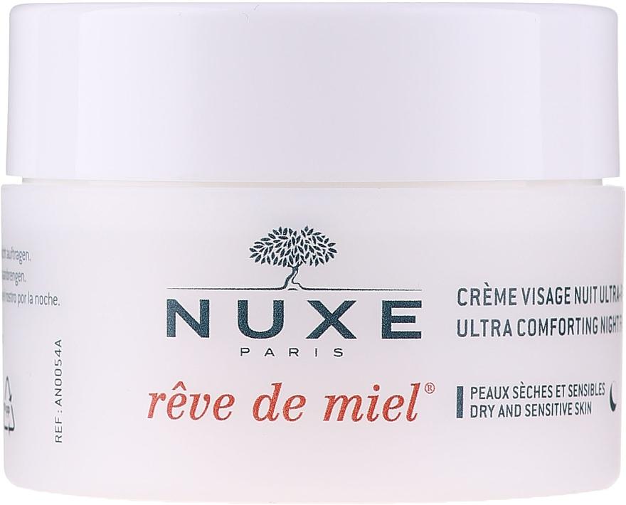 Beruhigende und regenerierende Nachtcreme für trockene und empfindliche Haut - Nuxe Reve De Miel Ultra Comfortable Face Night Cream — Bild N2