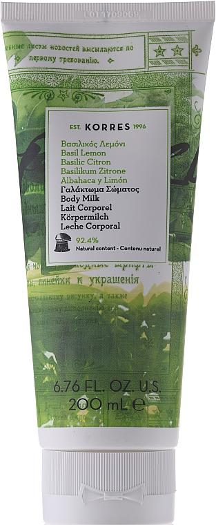 "Körpermilch ""Basilikum & Zitrone"" - Korres Body Milk Basil Lemon"
