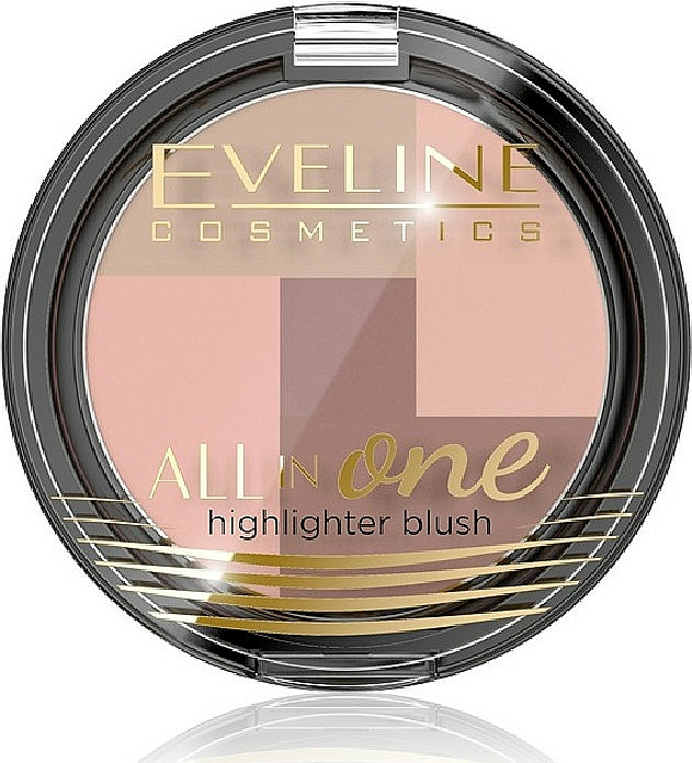 Highlighter & Gesichtsrouge - Eveline Cosmetics All In One Highlighter Blush