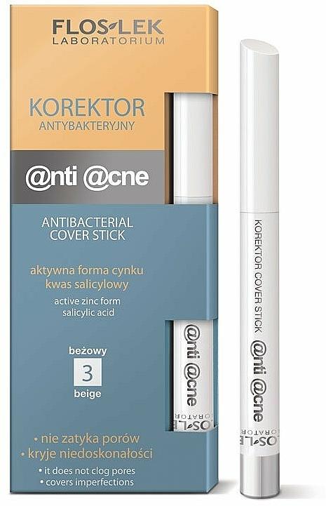 Antibakterieller Abdeckstift - FlosLek Anti Acne Program Corrector