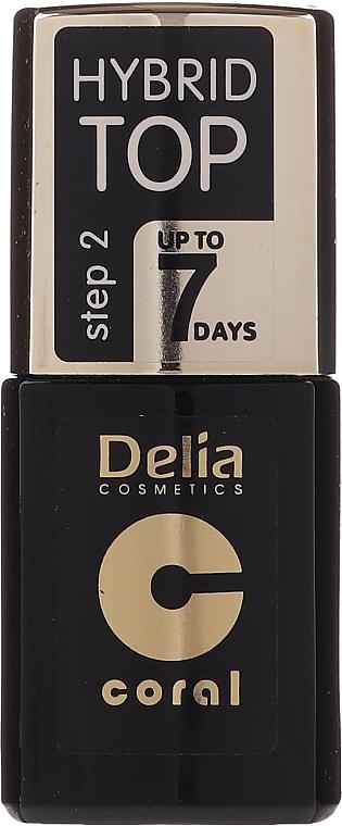 Hybrid Nagelüberlack - Delia Coral Hybrid Top Coat Gel