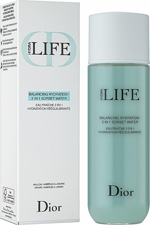 2in1 Ausgleichendes und feuchtigkeitsspendendes Gesichtswasser - Dior Hydra Life Balancing Hydration 2-in-1 Sorbet Water