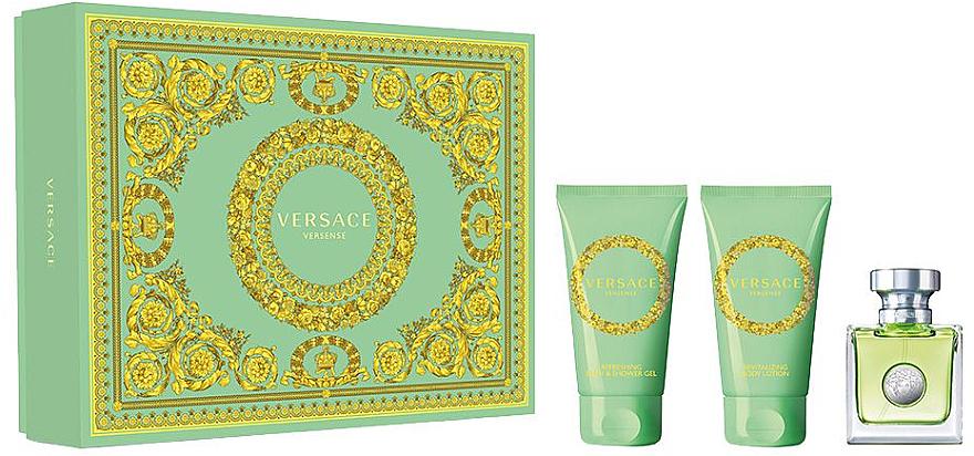 Versace Versense - Duftset (Eau de Toilette 50ml + Körperlotion 50ml + Bade- und Duschgel 50ml)
