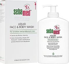 Düfte, Parfümerie und Kosmetik Gesichts- und Körperreinigungslotion für empfindliche Haut mit Olive - Sebamed Liquid Face and Body Wash