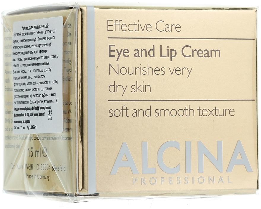 Anti-Aging Creme für Augenlider und Lippen - Alcina E Eye and Lip Cream