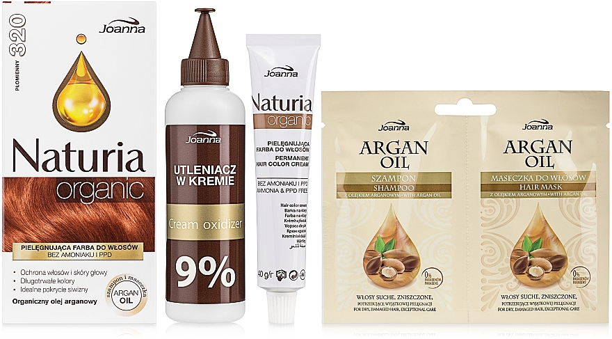 Ammoniakfreie Haarfarbe - Joanna Hair Color Naturia Organic