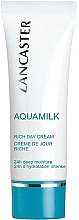 Düfte, Parfümerie und Kosmetik Pflegende Gesichtscreme - Lancaster Aquamilk Rich Day Cream Riche
