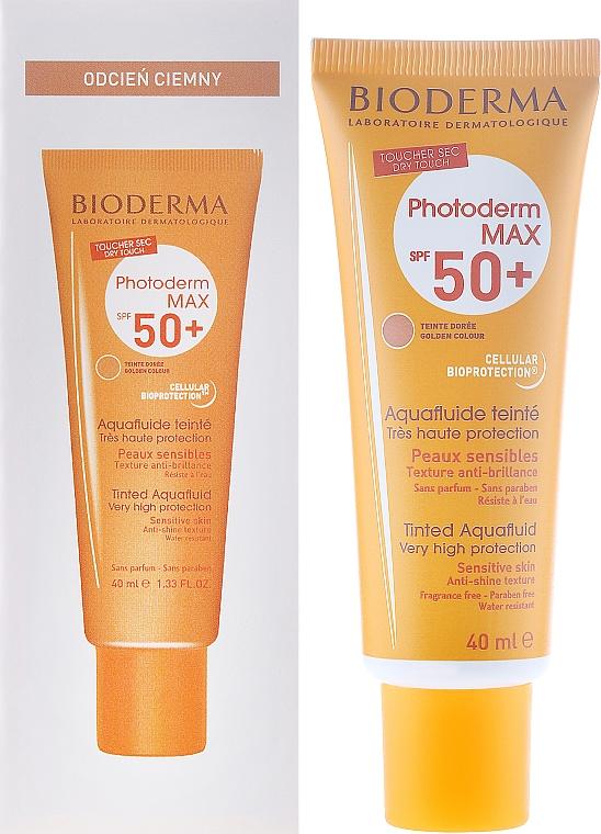 Getöntes Sonnenschutzfluid für das Gesicht SPF 50+ - Bioderma Photoderm Max Spf 50+ Ultra-Fluide Teinte