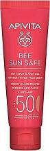 Düfte, Parfümerie und Kosmetik Anti-Aging Tönungscreme für das Gesicht  mit Meeresalgen und Propolis SPF 50 - Apivita Bee Sun Safe Anti-Spot & Anti-Age Defense Tinted Face Cream SPF 50