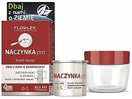 Düfte, Parfümerie und Kosmetik Gesichtspflegeset - Floslek Dilated Capillaries Rich (Reichhaltige Gesichtscreme 50ml + Cremebehälter)