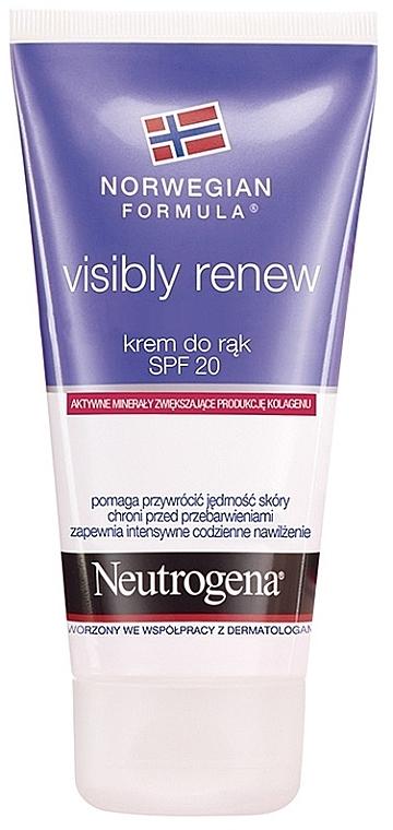 Erneuernde Handcreme SPF 20 - Neutrogena Visibly Renew Hand Cream