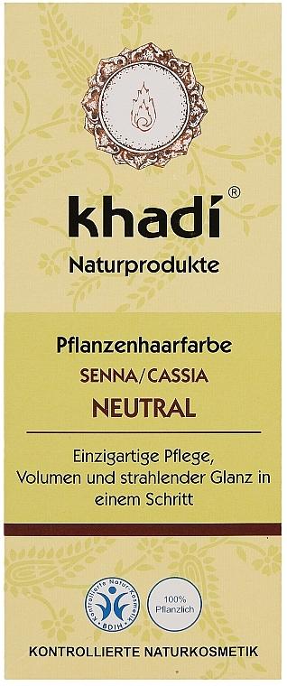 Natürliche Haarkur für mehr Volumen und Glanz - Khadi Herbal Natural Henna Senna/Cassia (colourless)