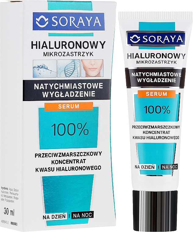 Anti-Falten Gesichtskonzentrat mit Hyaluronsäure - Soraya Hyaluronic Microinjection Anti-Wrinkle Hyaluronic Acid Concentrate
