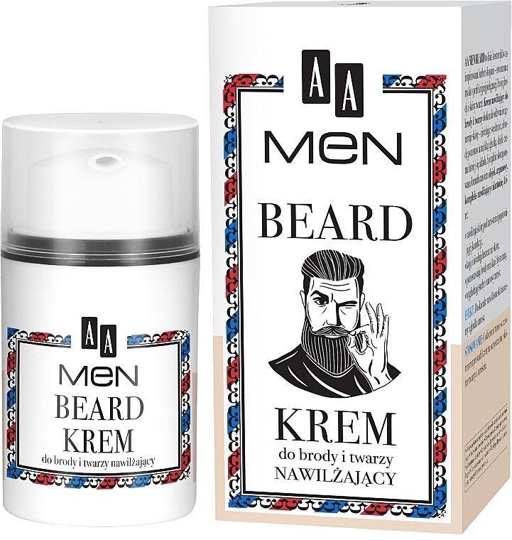 Feuchtigkeitsspendende Bart- und Gesichtscreme - AA Men Beard Face Cream