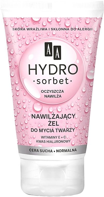 Feuchtigkeitsspendendes Gesichtswaschgel für trockene und normale Haut - AA Hydro Sorbet Moisturizing Face Wash Gel