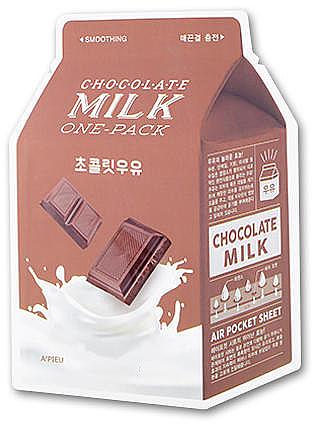 Tuchmaske für das Gesicht mit Kakao-, Milch- und japanischem Aprikosenextrakt - A'pieu Chocolate Milk One-Pack