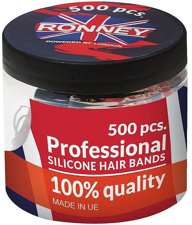 Silikon-Haargummis transparent - Ronney Professional Silicone Hair Bands