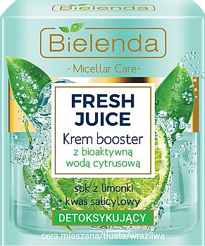 Entgiftender Creme-Booster für Gesicht mit Limette und Salicylsäure - Bielenda Fresh Juice Booster