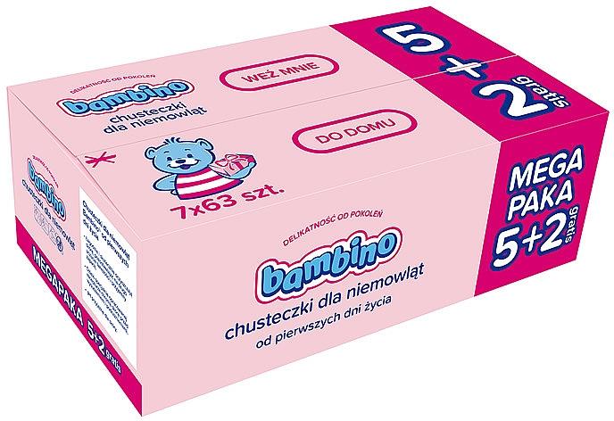 Feuchttücher für Neugeborene, 7x63Stk. - Nivea Bambino Wipes