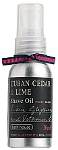 Düfte, Parfümerie und Kosmetik Bath House Cuban Cedar & Lime - Rasieröl Zeder & Limette