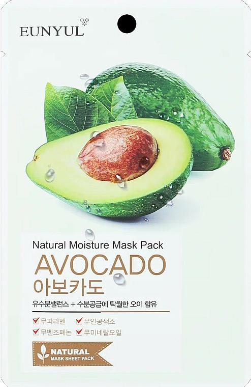 Feuchtigkeitsspendende Tuchmaske für das Gesicht mit Avocado - Eunyul Natural Moisture Mask Pack Avocado