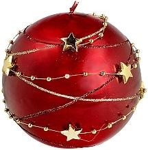 Düfte, Parfümerie und Kosmetik Dekorative Kerze 8 cm rot - Artman Garland Decorative Christmas Medium Ball Candle Dark Red