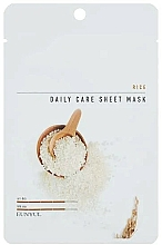 Düfte, Parfümerie und Kosmetik Nährende, feuchtigkeitsspendende und aufhellende Tuchmaske für das Gesicht mit Reisextrakt - Eunyul Daily Care Mask Sheet Rice