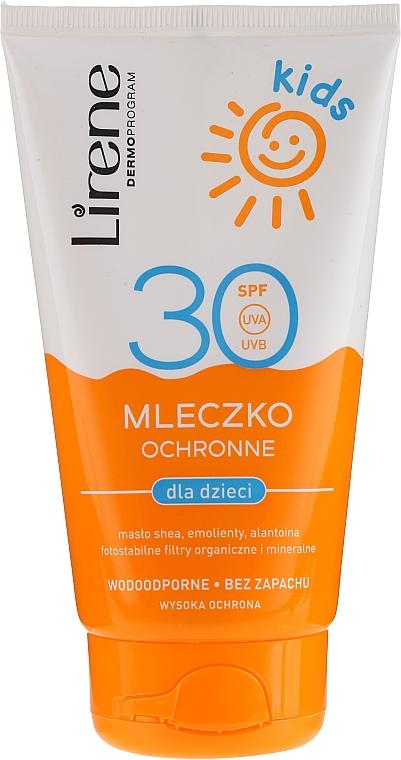 Wasserfeste Sonnenschutzmilch SPF 30 - Lirene Kids Sun Protection Waterproof Milk SPF 30 — Bild N1