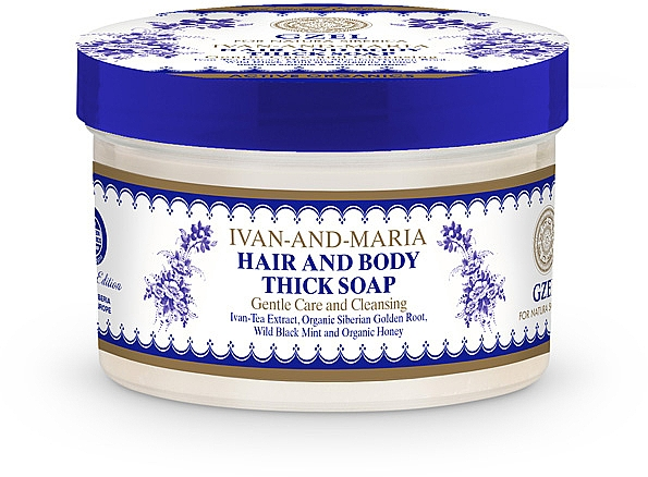 Natürliche Haar- und Körperseife - Natura Siberica Gzel Ivan-and-Maria Hair and Body Thick Soap