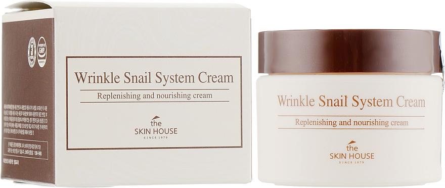 Anti-Aging Gesichtscreme mit Schneckenextrakt - The Skin House Wrinkle Snail System Cream