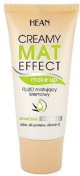 Make-up mit Aloe, Seidenproteinen und Vitamin E - Hean Creamy Mat Effect