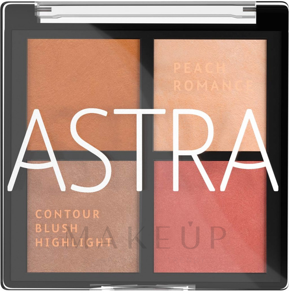 Make-up Palette - Astra Make-up The Romance Palette — Bild 01 - Peach Romance