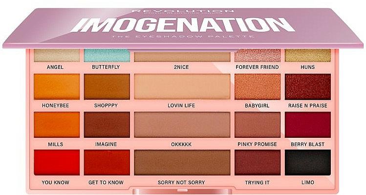Lidschattenpalette - Makeup Revolution X Imogenation Eyeshadow Palette
