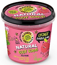 Düfte, Parfümerie und Kosmetik Körperpeeling Litschi & Kaugummi - Planeta Organica Natural Body Scrub Lychee & Bubble Gum