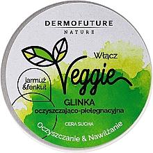 Düfte, Parfümerie und Kosmetik Reinigende und feuchtigkeitsspendende Gesichtspaste für trockene Haut mit Grünkohl, Fenchel und weißem Ton - DermoFuture Veggie Kale & fennel Pasta
