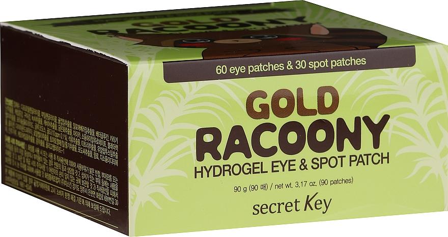 Hydrogel-Patches für Augen und Gesicht mit Gold - Secret Key Gold Racoony Hydrogel Eye Spot Patch