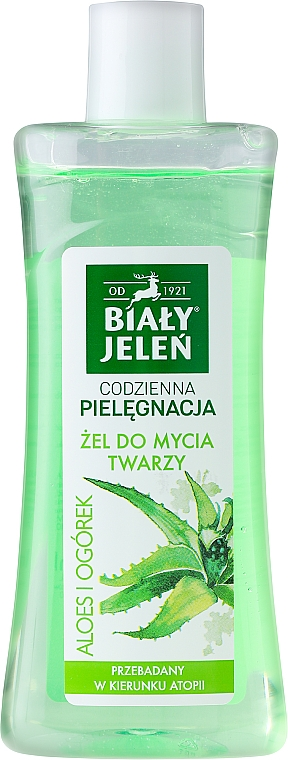 Hypoallergenes Gesichtsreinigungsgel mit Aloe Vera und Gurke - Bialy Jelen Hypoallergenic cleanser Aloe And Cucumber