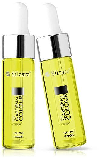 Nagel- und Nagelhautöl mit Pipette Gelbe Zitrone - Silcare Garden of Colour Cuticle Oil Lemon Yellow