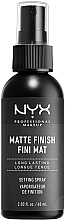 Düfte, Parfümerie und Kosmetik Make-up-Fixierspray mit mattem Finish - NYX Professional Makeup Matte Finish Long Lasting Setting Spray