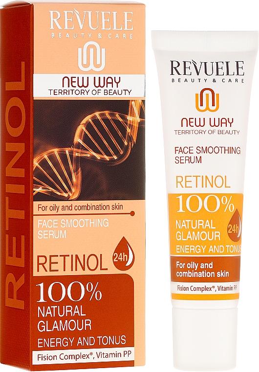 Glättendes und feuchtigkeitsspendendes Gesichtsserum mit Retinol - Revuele Retinol Face Smoothing Serum Moisturise Tone Hydrate Lift Firm Skin