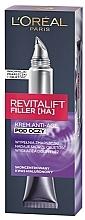 Düfte, Parfümerie und Kosmetik Hyaluron-Filler Augenpflege - L'Oreal Paris Revitalift Filler HA Anti-Age Eye Cream