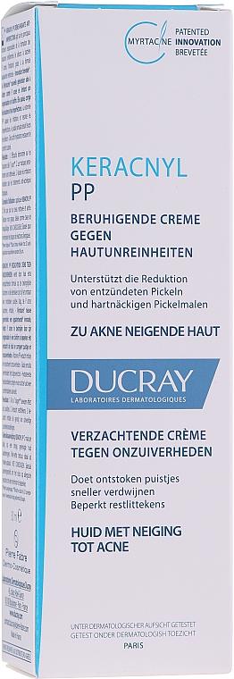 Beruhigende Gesichtscreme gegen Akne, Entzündungen und Hautunreinheiten - Ducray Keracnyl PP Anti-Blemish Soothing Cream