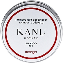 Düfte, Parfümerie und Kosmetik 2in1 Shampoo und Conditioner mit Mango in Metallbox - Kanu Nature Shampoo With Conditioner Shampoo Bar Mango