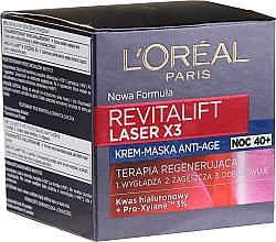 Düfte, Parfümerie und Kosmetik Regenerierende Anti-Age Crememaske für die Nacht - L'Oreal Paris Revitalift Laser X3 Night Cream-Mask